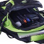 Sac à dos pour ordinateur portable pour ordinateurs portables jusqu'à 15,6 pouces (39.6 cm) - Design à manches matelassées légères - par Utopia Home (Vert) de la marque Utopia Home image 2 produit