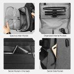 """Sac à Dos, SPARIN Sacoche Ordinateur Portable 15.6"""" Lin Laptop Backpack avec [Port USB], Sac à Dos d'affaires pour Hommes et Femmes [ Cachette Anti-vol ] [Multi-Fonctionnel] Gris de la marque SPARIN image 2 produit"""