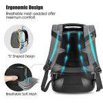 """Sac à Dos, SPARIN Sacoche Ordinateur Portable 15.6"""" Lin Laptop Backpack avec [Port USB], Sac à Dos d'affaires pour Hommes et Femmes [ Cachette Anti-vol ] [Multi-Fonctionnel] Gris de la marque SPARIN image 3 produit"""