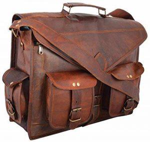 sac en cuir sacoche en cuir sac a main sac messager porte epaule cuir veau en Hommes pour Ordinateur Portable sac By ANUENT de la marque ANUENT image 0 produit