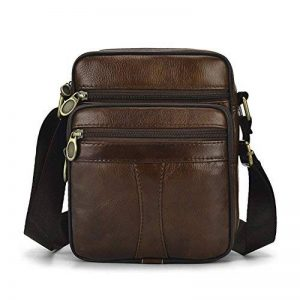 Sac en cuir véritable pour homme vintage Bandoulière Business Sac à main Sac à bandoulière sacoche sac d'ordinateur portable de la marque Realmark image 0 produit