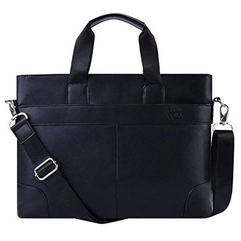 PU imitation cuir style business Marron Mallette ultrafine