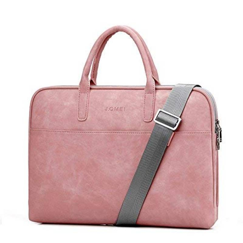 42dcf906c6 ... 15 15.6 17 43,9 cm, pour MacBook Air Pro décontracté épaule Portable  Sac ordinateur portable étanche pour homme, bracelet cuir PU Sac à  bandoulière Rose ...