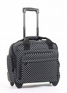Sacoche d'ordinateur portable sur roulettes sécurisé sur Valise Bagage Pois Imprimé Zp72t de la marque House of Luggage image 0 produit