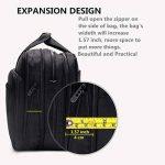"""Sacoche extensible à bandoulière pour ordinateur portable 17"""", grande capacité, 2en 1 de la marque TopSuper image 4 produit"""
