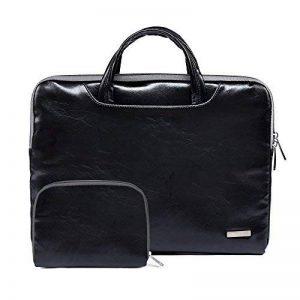 Sacoche Pochette Cuir pour Macbook air/pro et Ordinateurs Portables 11.6-15.6 pouces,Sac pour Chargeur de la marque ZhuiKun image 0 produit