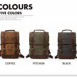 Sacs à dos de luxe de toile de cire pour les hommes hommes sac à dos occasionnel grande capacité ordinateur portable sac à dos de la marque HOOEYNST image 2 produit