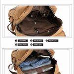 Sacs à dos de luxe de toile de cire pour les hommes hommes sac à dos occasionnel grande capacité ordinateur portable sac à dos de la marque HOOEYNST image 4 produit