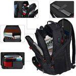 Sacs à dos pour ordinateur portable, TSA Scansmart Sac d'ordinateur port de charge USB , les grands sacs résistant à l'eau 17 pouces et portables, noir de la marque Mancro image 2 produit