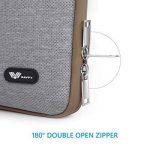 SAVFY Housse 12 Pouces pour Nouveau MacBook 12 Pouces, Sacoche Tissu de Toile pour Ordinateur Portable - Gris de la marque SAVFY image 2 produit