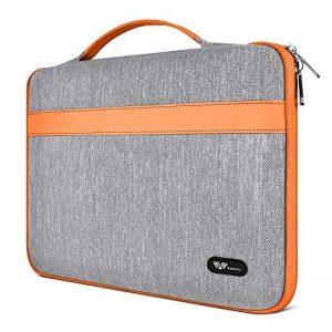 SAVFY Housse 12 Pouces pour Nouveau MacBook 12 Pouces, Sacoche Tissu de Toile pour Ordinateur Portable - Orange de la marque SAVFY image 0 produit