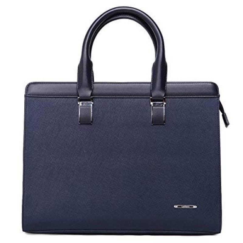 BOSTANTEN Femme Cuir Sac d/épaule Cabas Porte-Document Sacs bandouli/ère Sacs port/és Main 16  Laptop Grande Bleu