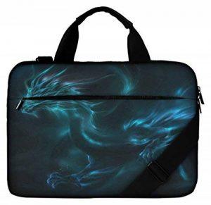 Silent Monsters Sac de toile pour ordinateur portable de 17.3 pouces (43,9 cm) avec compartiment pour accessoires, Design: dragon de la marque Silent Monsters image 0 produit