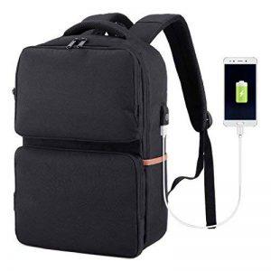 SLYPNOS Sac à Dos d'affaires pour Ordinateur Portable, Sac à Dos Anti-vol Etanche pour Ordinateur avec Port de Chargement USB et Serrure pour Hommes et Femmes(Noir) de la marque SLYPNOS image 0 produit