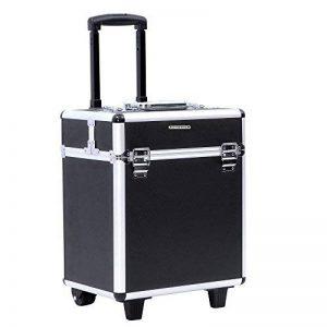 Songmics® Beauty Case Trolley Maquillage Coiffure Nail Cosmetic Valise boîte à maquillage outils bagages noir JHZ12B de la marque SONGMICS image 0 produit