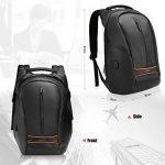 """SPARIN Sac à Dos, Sacoche Ordinateur Portable 15.6"""" Lin Laptop Backpack avec [Port USB], Sac à Dos d'affaires pour Hommes et Femmes [ Cachette Anti-vol ] [Multi-Fonctionnel] Noir de la marque SPARIN image 4 produit"""