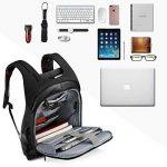"""SPARIN Sac à Dos, Sacoche Ordinateur Portable 15.6"""" Lin Laptop Backpack avec [Port USB], Sac à Dos d'affaires pour Hommes et Femmes [ Cachette Anti-vol ] [Multi-Fonctionnel] Noir de la marque SPARIN image 3 produit"""
