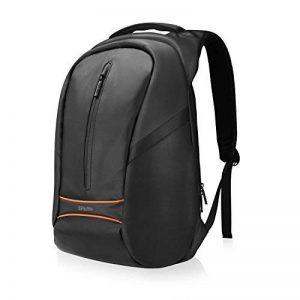 """SPARIN Sac à Dos, Sacoche Ordinateur Portable 15.6"""" Lin Laptop Backpack avec [Port USB], Sac à Dos d'affaires pour Hommes et Femmes [ Cachette Anti-vol ] [Multi-Fonctionnel] Noir de la marque SPARIN image 0 produit"""