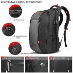 SPARIN Sac à Dos, Sacoche Ordinateur Portable 15.6 Pouces Laptop Backpack avec [Port USB], Sac à Dos d'affaires pour Hommes et Femmes [ Cachette Anti-vol ] [Multi-Fonctionnel], Noir de la marque SPARIN image 4 produit