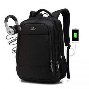 TEENO Sac /à Dos Ordinateur Portable 15,6 Pouces Homme Imperm/éable 2 dans 1 Sac a Dos PC Portable pour Loisirs//Affaire//Scolaire Noir