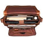 STILORD 'Rick' Vintage Sac en Bandoulière Cuir Unisexe Design Sac pour Ordinateurs Portables 15.6 Pouces Laptop Serviette en Cuir de la marque STILORD image 4 produit