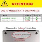 Tecool Coque MacBook Air 13 Pouces, [Ultra Mince Série] Plastique Mate Rigide Étui avec Housse de Clavier en Silicone pour MacBook Air 13.3 Modèle: A1466 and A1369 - Clair de la marque Tecool image 1 produit
