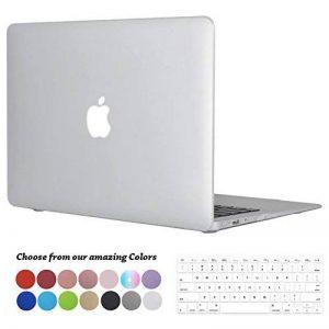 Tecool Coque MacBook Air 13 Pouces, [Ultra Mince Série] Plastique Mate Rigide Étui avec Housse de Clavier en Silicone pour MacBook Air 13.3 Modèle: A1466 and A1369 - Clair de la marque Tecool image 0 produit