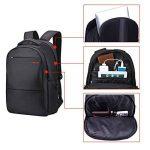 Tigernu Grand Nylon imperméable Ordinateur portable Sac à dos Convient 12.1-17 pouces Portables-Noire de la marque TIGERNU image 3 produit