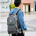 Tiny Fin portable sac avec chargeur usb port & casque port & lock, résistant à l'eau sac business sac / sac d'école pour l'université voyager sac sac colle jusqu'à 18 pouces pc et tablette, gris de la marque Tiny Fin image 4 produit