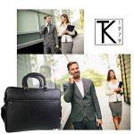 TK 1979 - Sac à main HOMME Sac d'affaires en cuir - PL4056 Cartable porte-documents, sac à bandoulière 40 x 28 cm de la marque TK 1979 image 3 produit