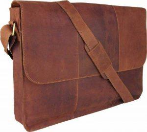 """UNICORN Réel en cuir jusqu'à 17"""" laptop / ordinateur portable Sac Messager Cognac - Messenger Bag #6G de la marque Unicorn London image 0 produit"""