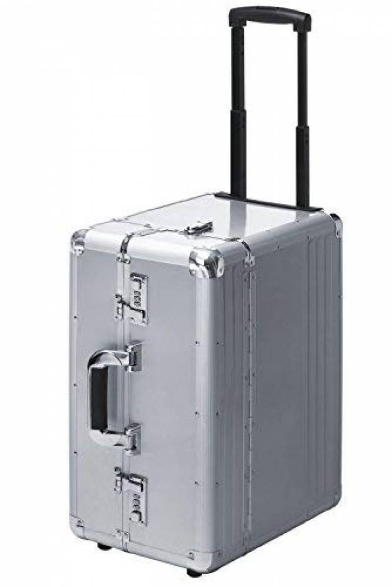 Pilotes valise valise de voyage voyage trolley Laptopfach trolley Aluminium-Argent