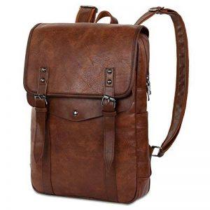 Vbiger Sac à dos en cuir Vintage Vintage Sac à dos pour ordinateur portable Sac à dos scolaire pour homme de la marque VBIGER image 0 produit