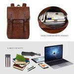 Vbiger Sac à dos en cuir Vintage Vintage Sac à dos pour ordinateur portable Sac à dos scolaire pour homme de la marque VBIGER image 1 produit
