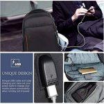 VBIGER Sac à Dos pour Ordinateur Portable Etanche Antivol avec Câble USB et Port de Charge de la marque VBIGER image 1 produit
