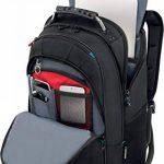 """Wenger 600637 Carbon 17"""" MacBook Pro sac à dos, compartiment pour ordinateur portable rembourré avec plate-forme de stabalising cas en noir {25 Litres} de la marque Wenger image 2 produit"""
