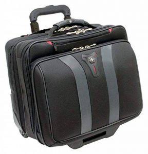 """Wenger 600659 GRANADA 17"""" à roues - Compartiment pour ordinateur portable rembourré avec compartiment - noir la nuit/gris {24 Litres} de la marque Wenger image 0 produit"""
