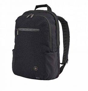 """Wenger 602809 CityFriend 15.6"""" Laptop Backpack, compartiment pour ordinateur portable rembourré avec iPad/tablette/eReader de poche en noir de la marque Wenger image 0 produit"""