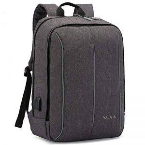 """XQXA Sac à Dos Ordinateur Portable, 15.6"""" d'affaires Sac pour Ordinateur Portable pour Hommes et Femmes avec USB Charging Port and Headphone Port (Gris) de la marque XQXA image 0 produit"""